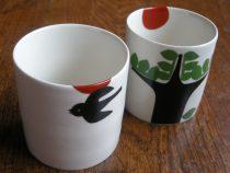 木ととり、虫のカップ